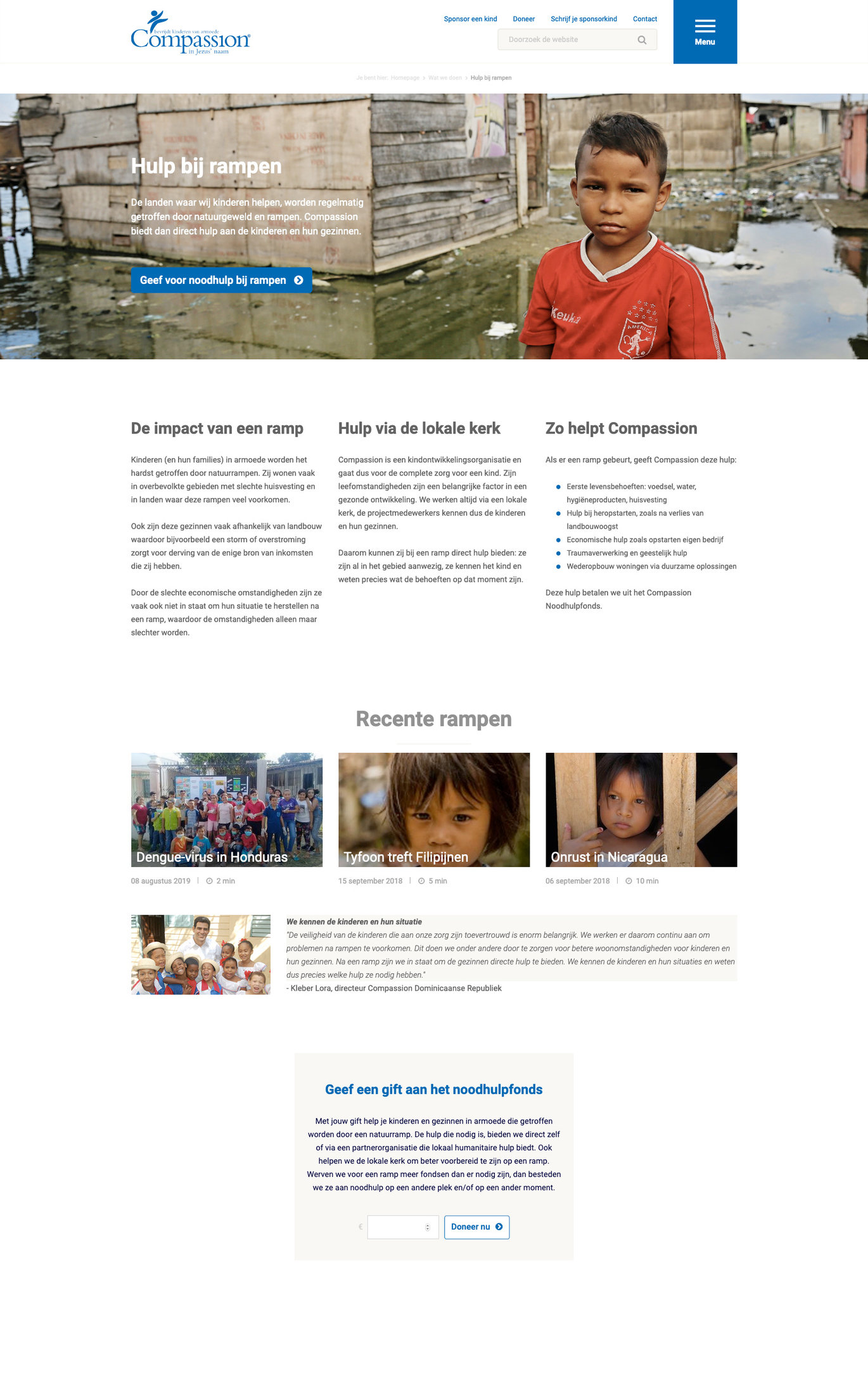 Sfeerafbeelding website Compassion